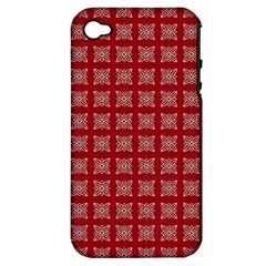 Christmas Paper Pattern Apple Iphone 4/4s Hardshell Case (pc+silicone) by Nexatart