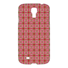 Christmas Paper Wrapping Pattern Samsung Galaxy S4 I9500/i9505 Hardshell Case by Nexatart