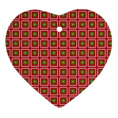 Christmas Paper Wrapping Heart Ornament (two Sides) by Nexatart