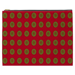 Christmas Paper Wrapping Paper Cosmetic Bag (xxxl)