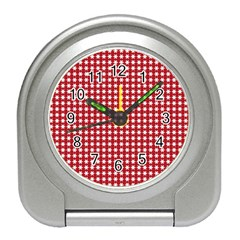 Christmas Paper Wrapping Paper Travel Alarm Clocks