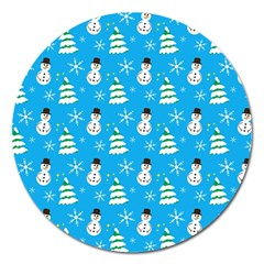 Christmas Pattern Magnet 5  (round)