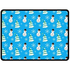 Christmas Pattern Double Sided Fleece Blanket (large)  by Nexatart