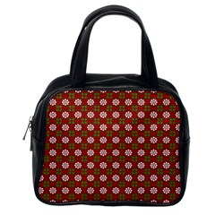 Christmas Paper Wrapping Pattern Classic Handbags (one Side) by Nexatart