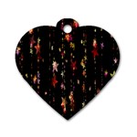 Christmas Star Advent Golden Dog Tag Heart (Two Sides) Back