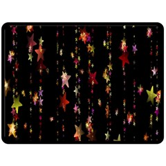 Christmas Star Advent Golden Double Sided Fleece Blanket (large)  by Nexatart