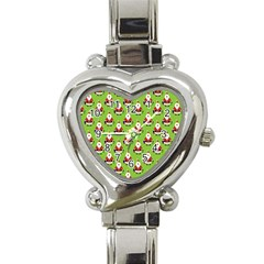 Christmas Santa Santa Claus Heart Italian Charm Watch