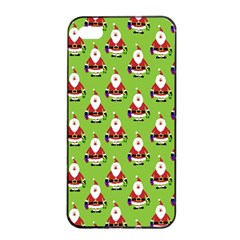 Christmas Santa Santa Claus Apple Iphone 4/4s Seamless Case (black) by Nexatart
