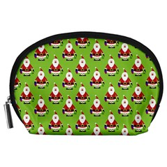 Christmas Santa Santa Claus Accessory Pouches (large)  by Nexatart