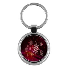 Christmas Snowflake Ice Crystal Key Chains (round)
