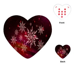 Christmas Snowflake Ice Crystal Playing Cards (heart)