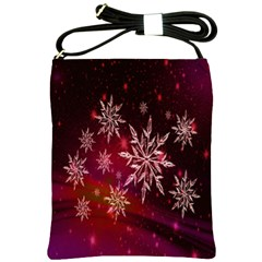 Christmas Snowflake Ice Crystal Shoulder Sling Bags by Nexatart