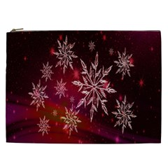Christmas Snowflake Ice Crystal Cosmetic Bag (xxl)