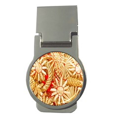 Christmas Straw Xmas Gold Money Clips (round)