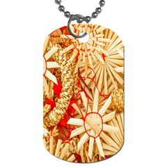Christmas Straw Xmas Gold Dog Tag (one Side)