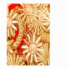 Christmas Straw Xmas Gold Small Garden Flag (two Sides)