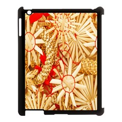 Christmas Straw Xmas Gold Apple Ipad 3/4 Case (black) by Nexatart