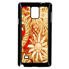 Christmas Straw Xmas Gold Samsung Galaxy Note 4 Case (black) by Nexatart