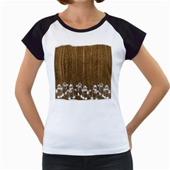 Christmas Snowmen Rustic Snow Women s Cap Sleeve T by Nexatart