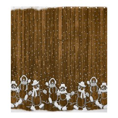 Christmas Snowmen Rustic Snow Shower Curtain 66  X 72  (large)  by Nexatart