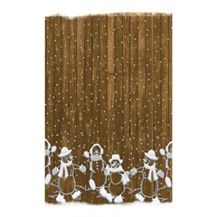 Christmas Snowmen Rustic Snow Shower Curtain 48  X 72  (small)