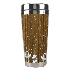 Christmas Snowmen Rustic Snow Stainless Steel Travel Tumblers by Nexatart