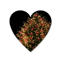 Christmas Tree Heart Magnet by Nexatart