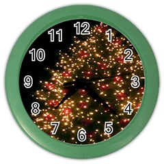 Christmas Tree Color Wall Clocks by Nexatart