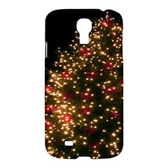 Christmas Tree Samsung Galaxy S4 I9500/i9505 Hardshell Case by Nexatart