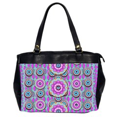 Magic Flowers From  The Paradise Of Lotus Office Handbags (2 Sides)  by pepitasart