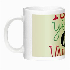 I Love You My Valentine (white) Our Two Hearts Pattern (white) Night Luminous Mugs by FashionFling