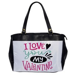 I Love You My Valentine (white) Our Two Hearts Pattern (white) Office Handbags by FashionFling