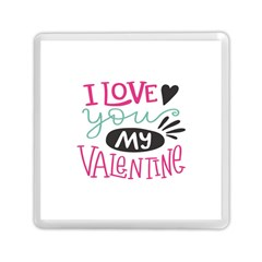 I Love You My Valentine (white) Our Two Hearts Pattern (white) Memory Card Reader (square)