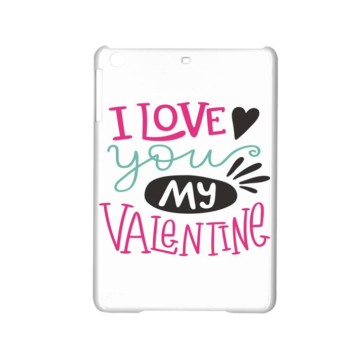 I Love You My Valentine (white) Our Two Hearts Pattern (white) iPad Mini 2 Hardshell Cases