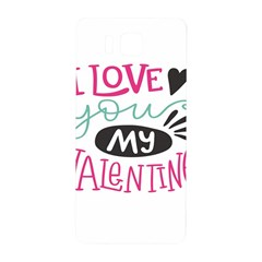 I Love You My Valentine (white) Our Two Hearts Pattern (white) Samsung Galaxy Alpha Hardshell Back Case by FashionFling