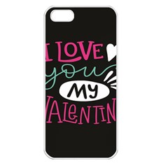 I Love You My Valentine / Our Two Hearts Pattern (black) Apple Iphone 5 Seamless Case (white) by FashionFling