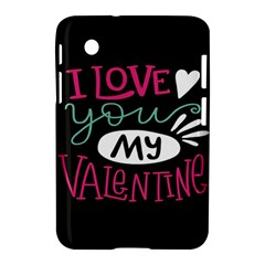 I Love You My Valentine / Our Two Hearts Pattern (black) Samsung Galaxy Tab 2 (7 ) P3100 Hardshell Case  by FashionFling