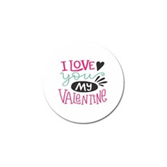 I Love You My Valentine / Our Two Hearts Pattern (white) Golf Ball Marker (4 Pack) by FashionFling