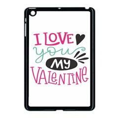 I Love You My Valentine / Our Two Hearts Pattern (white) Apple Ipad Mini Case (black)