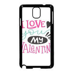 I Love You My Valentine / Our Two Hearts Pattern (white) Samsung Galaxy Note 3 Neo Hardshell Case (black)
