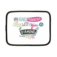 My Every Moment Spent With You Is Diamond To Me / Diamonds Hearts Lips Pattern (white) Netbook Case (small)  by FashionFling