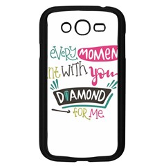 My Every Moment Spent With You Is Diamond To Me / Diamonds Hearts Lips Pattern (white) Samsung Galaxy Grand Duos I9082 Case (black) by FashionFling