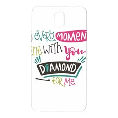 My Every Moment Spent With You Is Diamond To Me / Diamonds Hearts Lips Pattern (white) Samsung Galaxy Note 3 N9005 Hardshell Back Case by FashionFling