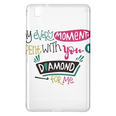 My Every Moment Spent With You Is Diamond To Me / Diamonds Hearts Lips Pattern (white) Samsung Galaxy Tab Pro 8 4 Hardshell Case