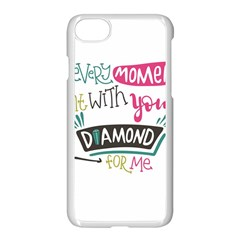My Every Moment Spent With You Is Diamond To Me / Diamonds Hearts Lips Pattern (white) Apple Iphone 7 Seamless Case (white) by FashionFling