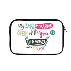 My Every Moment Spent With You Is Diamond To Me / Diamonds Hearts Lips Pattern (white) Apple Macbook Pro 13  Zipper Case by FashionFling