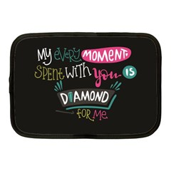 My Every Moment Spent With You Is Diamond To Me / Diamonds Hearts Lips Pattern (black) Netbook Case (medium)