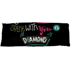 My Every Moment Spent With You Is Diamond To Me / Diamonds Hearts Lips Pattern (black) Body Pillow Case (dakimakura) by FashionFling