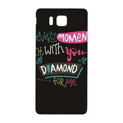 My Every Moment Spent With You Is Diamond To Me / Diamonds Hearts Lips Pattern (black) Samsung Galaxy Alpha Hardshell Back Case by FashionFling