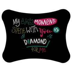 My Every Moment Spent With You Is Diamond To Me / Diamonds Hearts Lips Pattern (black) Jigsaw Puzzle Photo Stand (bow) by FashionFling